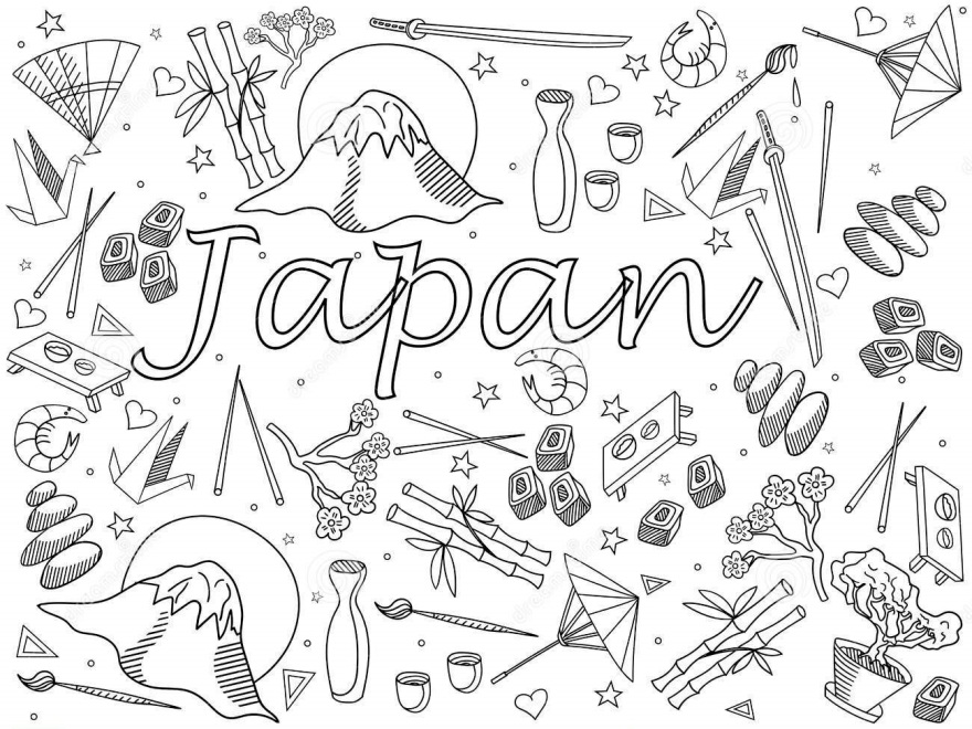 disegni giapponesi da colorare